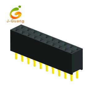 JG123-I 2 Rows V/T Type H=7.1mm Female Header