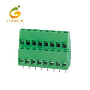 128A-5.0 5.08 Two Row Green Terminal Block