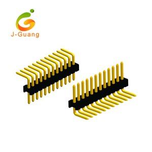 JG131-B 1.27mm Single Row Right Angle Pin Header Connectors